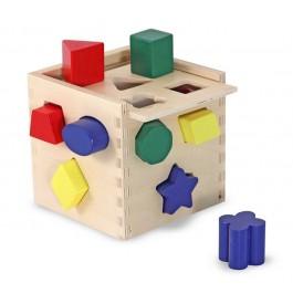 Cub din lemn cu forme de sortat
