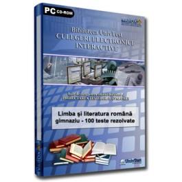 Culegere Lb. Romana EN (100 variante teste cu rezolvări complete)