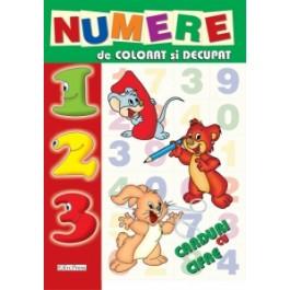 Numere de colorat - decupat