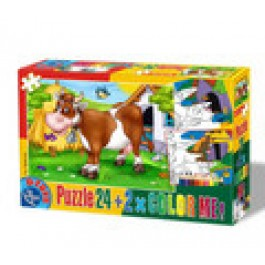PUZZLE 24 COLOR ME ANIMALE