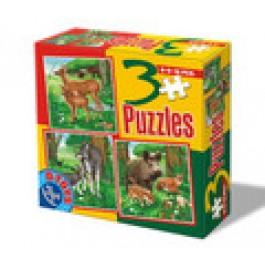 3 Puzzle - Animale salbatice 1