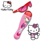 Set microfon - ochelari Hello Kitty